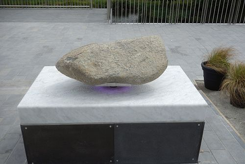 Greenstone at entrance to the Canterbury Earthquake Memorial