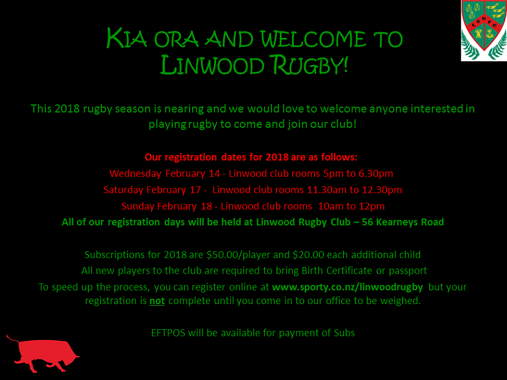 Linwood Rugby Registration 2018 - Te Mōkihi, Issue #51