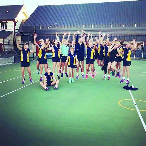 Last year's HeadStart group jumping for joy!