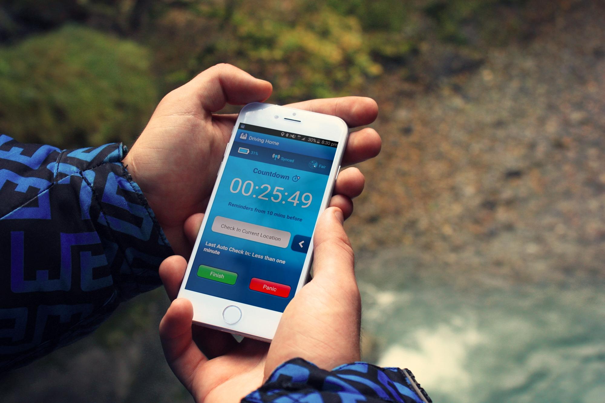 Get Home Safe App on iPhone