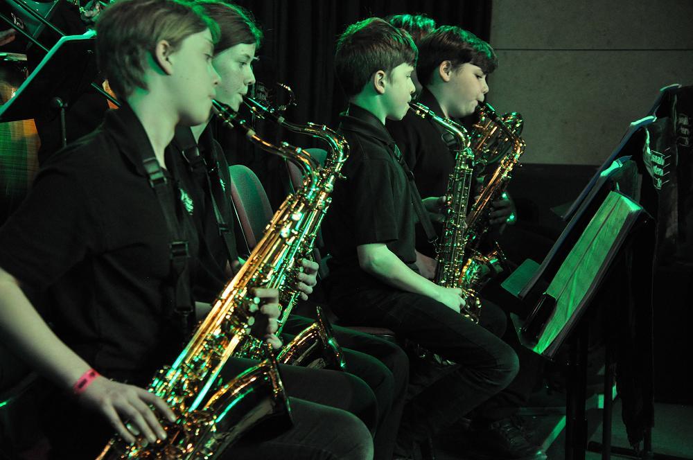 Chisnallwood Jazz Band Sax section