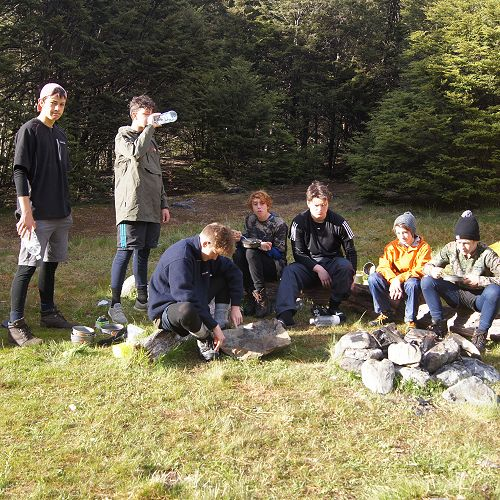 Members of 10JCU at the South Temple campsite