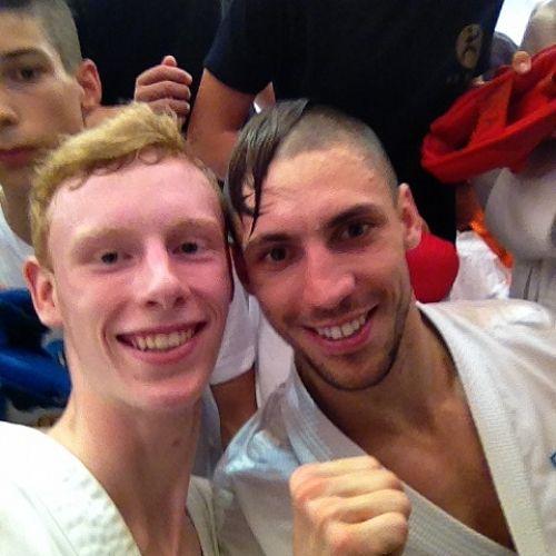Riley Hall with Stanislav Horuna (current world champion)