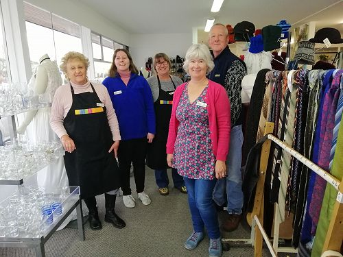 Oamaru Shop - Maria, Alice, Kate (Supervisor), Murray and Kate
