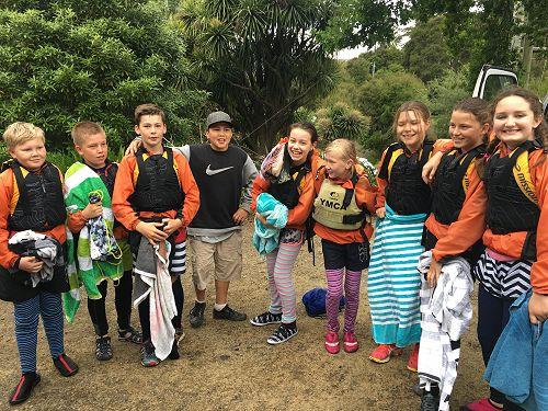 Year 7 students at Wainui Camp 2016