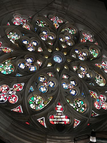 Stained glass window at St Joseph's Cathedral