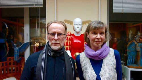 David Howard and translator Olga Tyurina at thestu