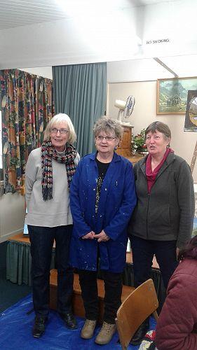 Three winners - Kath McElrea, Juliet Ickringill an