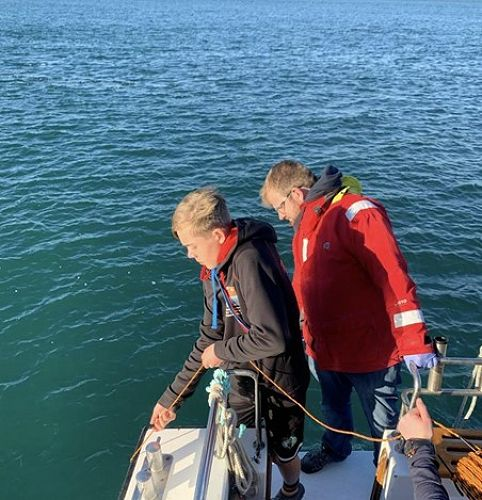 Oliver Lodge getting to grips with Marine Science