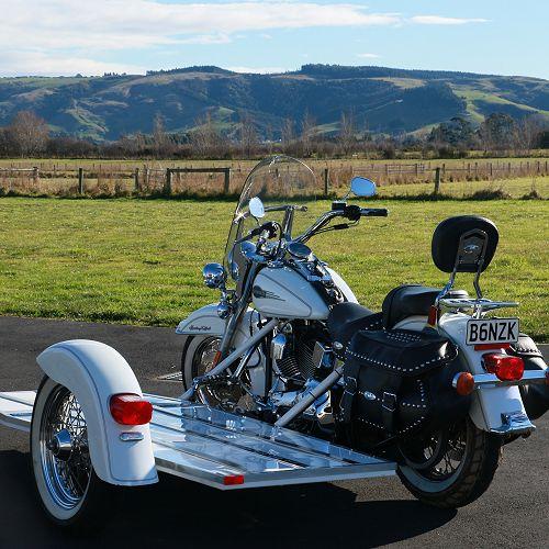 Harley Davidson out at Dukes Road Crematorium