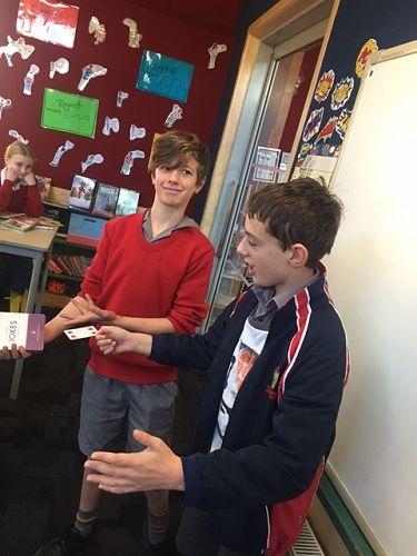 Theo and Ryan showcase their magic skills