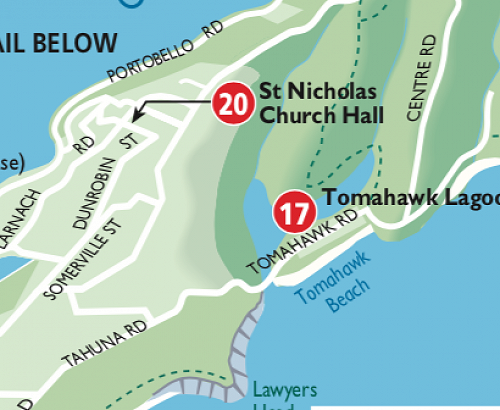 Location of Tomahawk Citizen Science Open Day at Domain Hall, 307 Tomahawk Road.