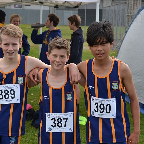 The Year 9 Boys team- NZSSXC 2019