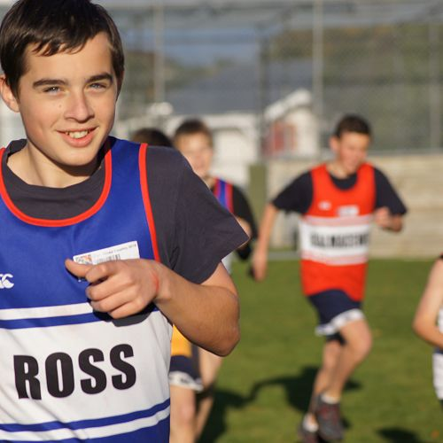 Max Pacey competes in the Novice cross country