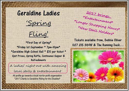 Geraldine Ladies Spring Fling