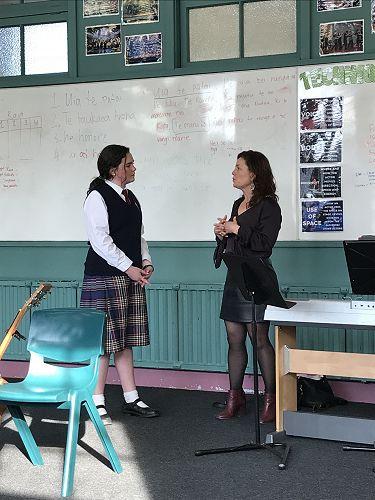 Lexie getting tutoring from Arlie