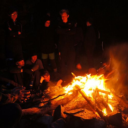 Campfire at the South Temple