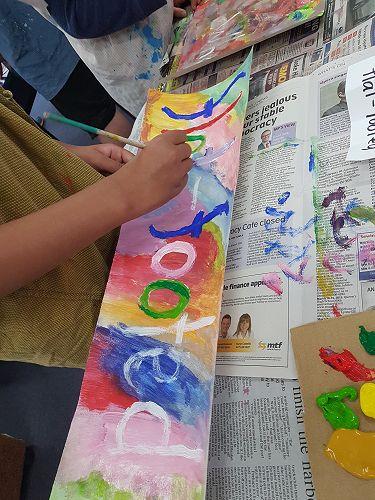 Painted Poems at Portobello School