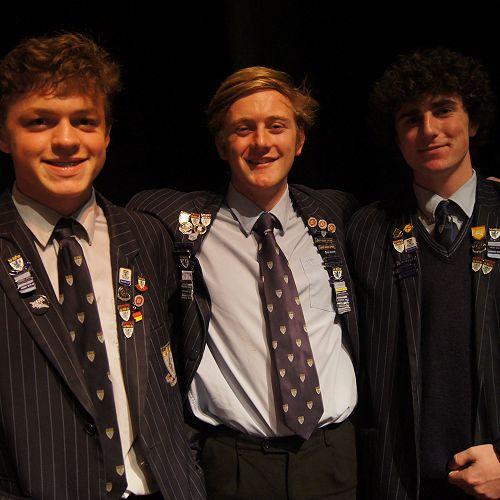 From left; Zeke Bushl, George Bates, James Nicolson