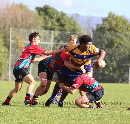 Luke Biutanaseva was a tower of strength committing players whilst also offloading in the tackle