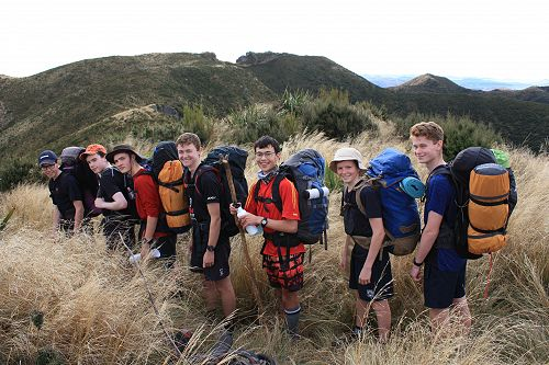 The Year 11 group approach The Gap for lunch on th