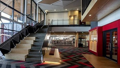 Reception area and Library