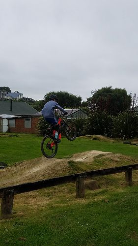 Adam Hendry on the pump track