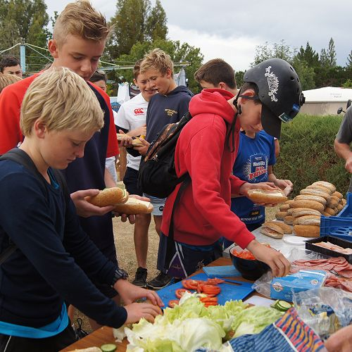 Making lunch in the Ranfurly camp ground