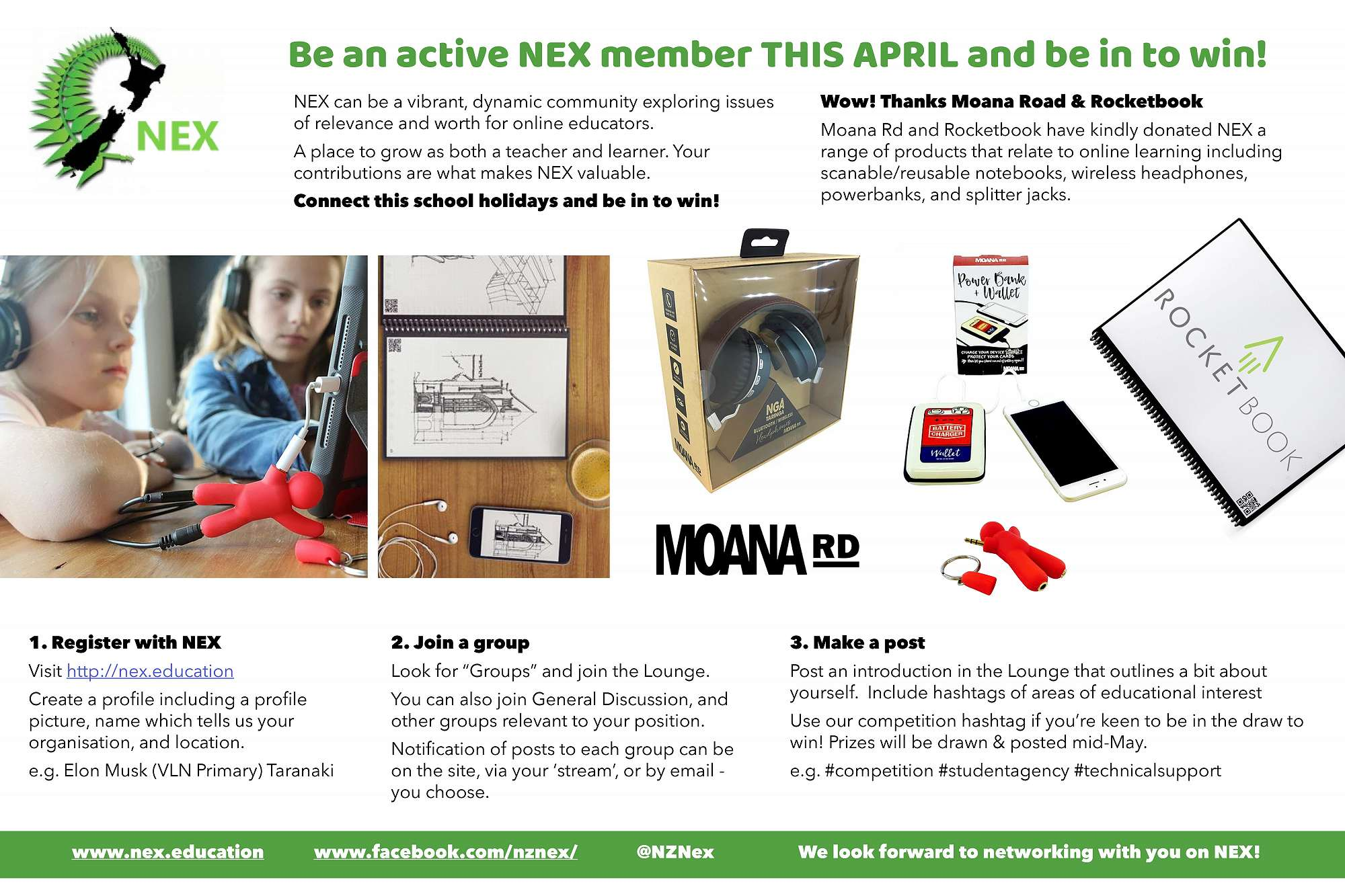 Be an active NEX member THIS APRIL and be in to win!