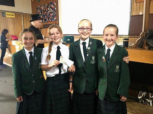 Year 7 team - Grace Hill, Tessa Smith, Clara Ballantyne, Natalie McDonald