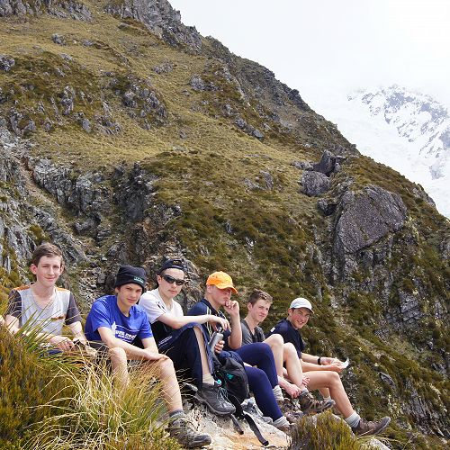 Ben, Neil, Billy, Harrison, George, Ruaidhri and Will at Sealy Tarns