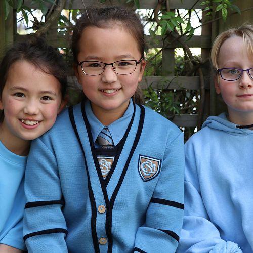 Emma Macpherson, Amy Macpherson and Sophia Pinkney