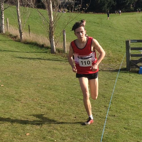 Oliver Chignell on his way to winning the Senior Event at the Otago Cross Country Championships