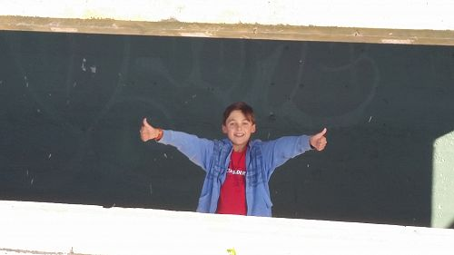 Jacob visited the gun emplacements in the Banks Peninsula.