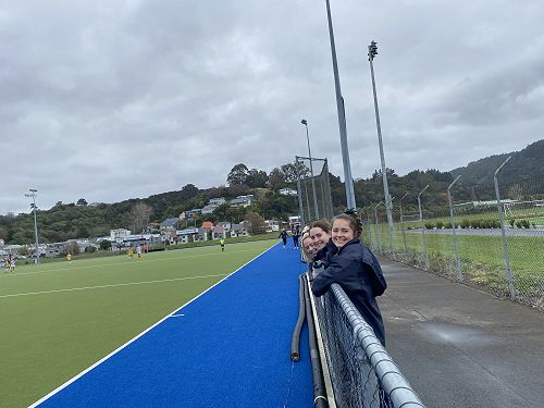 Columba Football girls supporting the Columba First XI competing against STAC