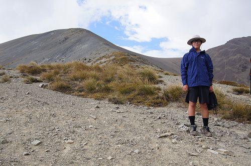 Brian heading to the saddle of Mt Mason
