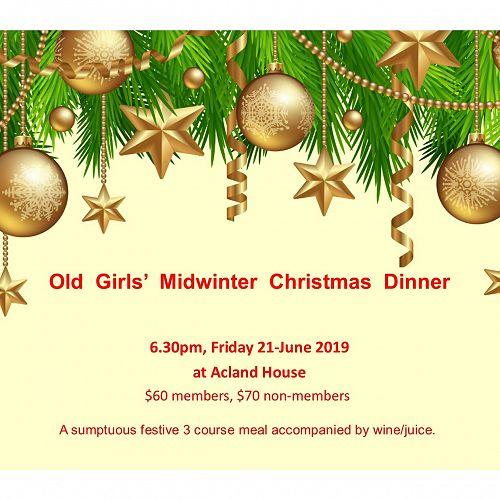 Old Girls' Midwinter Xmas Dinner