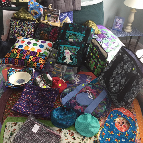 Val Clark's fabulous crafts for sale at the Taradale RSA Markets