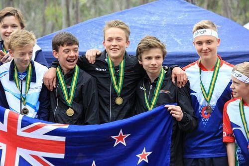 Winning Junior Boys Relay Team