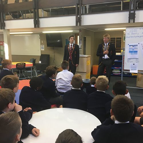 Year 7 Prefect Formtime with Billy Sheard and Archie Calder