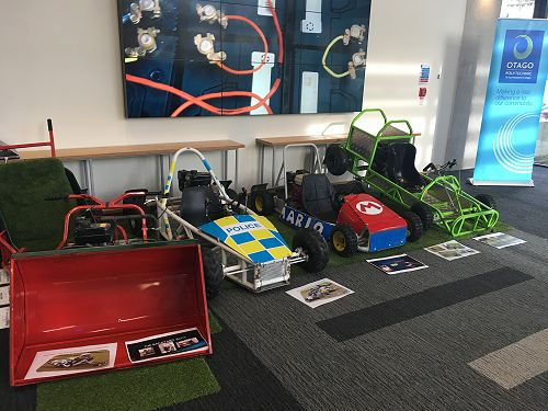 GoKarts built by students from Otago Polytechnic a