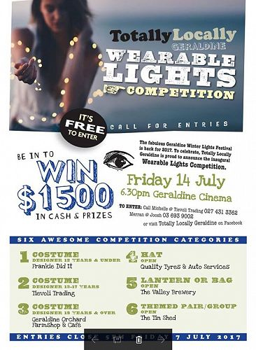 The Geraldine Wearable Lights Competition