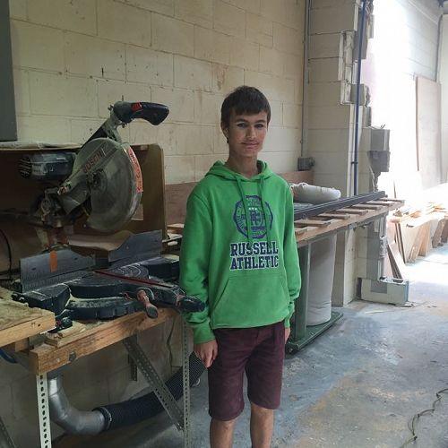 Alex Brenssell in the workshop at Vista Lite