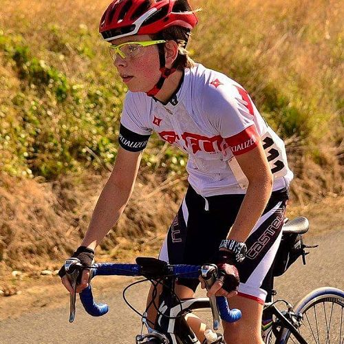 Flynn Cooper-Forster competes at the Cycling Otago Club Champs Road and Time trials