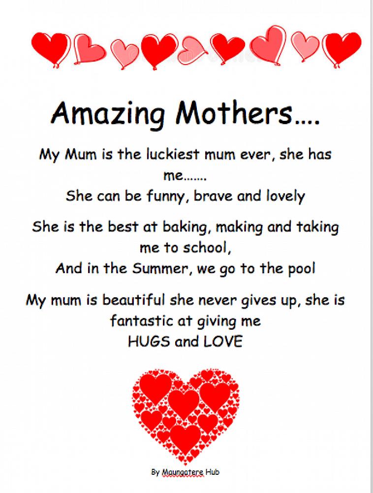Maungateres Mothers Day Poem 2018 Newlsletter 7