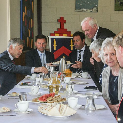 Lunch with the honoured Old Collegians and families in the dining room.