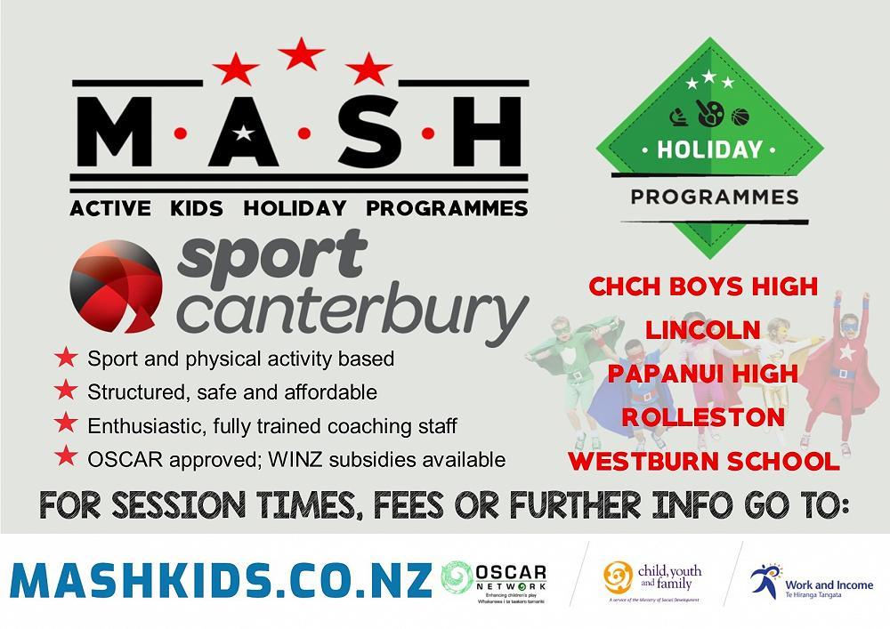 Sports Canterbury Holiday Programme - Term 4 week 9