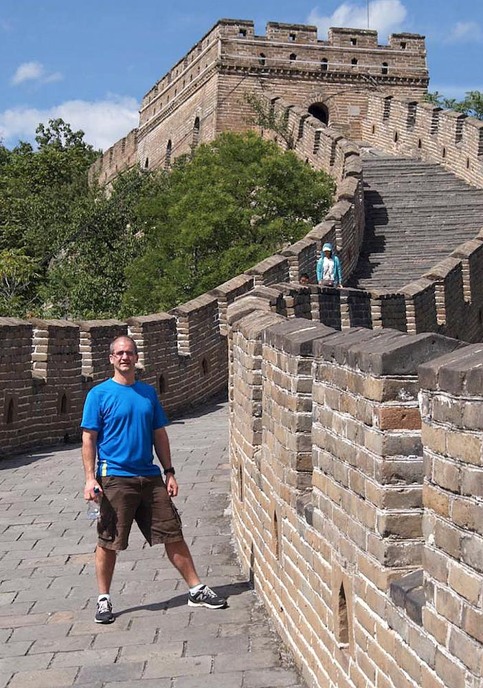 Dr. Blyth at the Great Wall of China