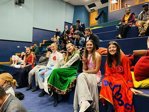 Students wait for prize giving
