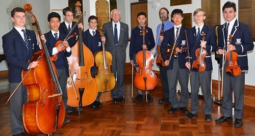 OBHS String Ensemble with Brigadier McMahon and Mr